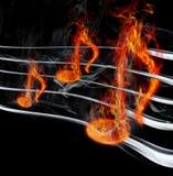 горящее нот иллюстрация штока