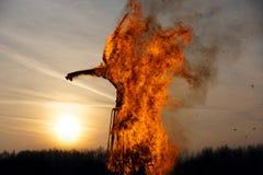 горящее объемное изображение Стоковая Фотография RF