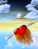 горящее сердце сольное иллюстрация вектора