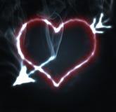 горящее сердце Стоковая Фотография RF