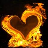 горящее сердце Стоковое фото RF