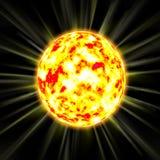 горящее солнце Стоковые Изображения RF