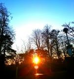 горящее солнце стоковая фотография