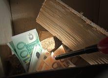 горящие деньги Стоковые Фото