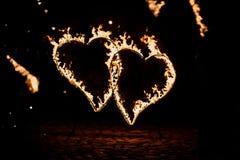 Горящие обои сердец Стоковые Фотографии RF
