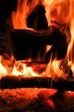 горящие пламена Стоковое Изображение