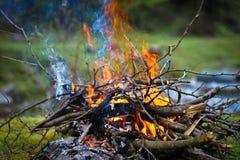 горящие пламена Стоковая Фотография RF