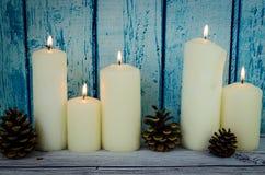Горящие свечи и конусы Стоковые Изображения RF