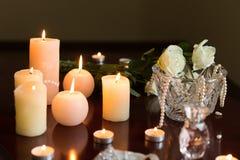 Горящие свечи и дух стоковые фото