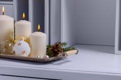 Горящие свечи пришествия Стоковое фото RF