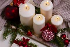 Горящие свечи пришествия Стоковое Изображение RF