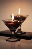 горящие свечки декоративные Стоковое фото RF