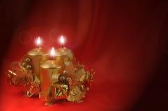 горящие свечки красные Стоковое Фото