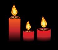 горящие свечки иллюстрация штока