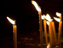 горящие свечки Стоковые Изображения RF