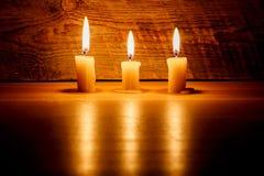 горящие свечки 3 Стоковое Изображение