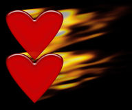 горящие сердца иллюстрация вектора