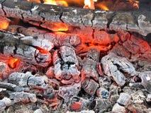 горящие embers Стоковые Изображения RF