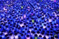 Горящие lampions голубые Стоковая Фотография RF
