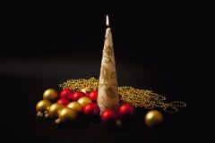 горящий вал украшений рождества свечки Стоковое Изображение