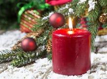 горящий вектор красного цвета иллюстрации рождества свечки стоковая фотография