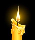 горящий воск пожара свечки Стоковые Фото