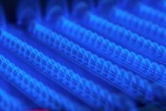 Горящий газ в печи нагревателя воды Стоковая Фотография RF