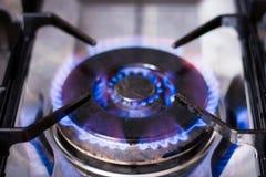 горящий газ плитаа Стоковые Изображения RF