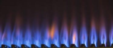 горящий газ Стоковая Фотография