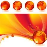 горящий глобус Стоковые Фотографии RF