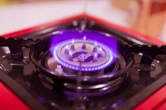 Горящий голубой газ Стоковые Изображения RF