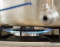 Горящий голубой газ Стоковая Фотография