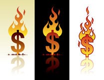 горящий доллар Стоковое Изображение RF