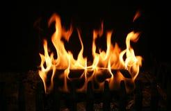 горящий журнал Стоковые Изображения RF