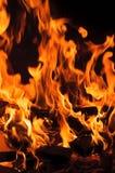 горящий журнал пожара Стоковая Фотография RF