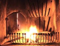 горящий камин Стоковая Фотография