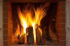 горящий камин Стоковые Изображения RF