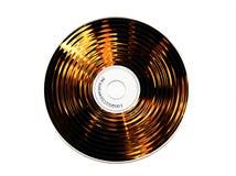 горящий компактный диск Стоковые Фотографии RF