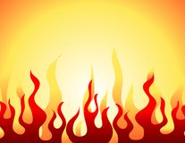горящий красный цвет картины пламени Иллюстрация вектора