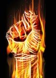 Горящий кулак Стоковые Изображения