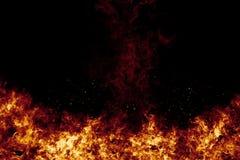 Горящий огонь пылает рамка на черноте иллюстрация штока