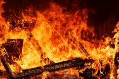 горящий пакгауз Стоковое Изображение RF
