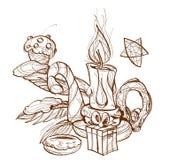 горящий подсвечник свечки бесплатная иллюстрация