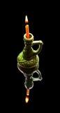 горящий подсвечник свечки Стоковая Фотография