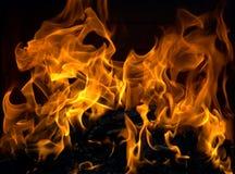 горящий пожар Стоковые Изображения RF