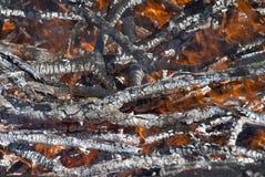 Горящий пожар Стоковая Фотография RF