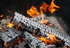 горящий пожар Стоковое Изображение