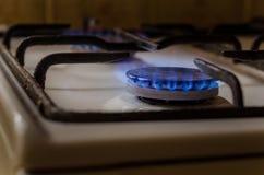 Горящий природный газ, подогреватель кухни Стоковое Изображение RF