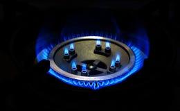 Горящий природный газ Стоковое Фото