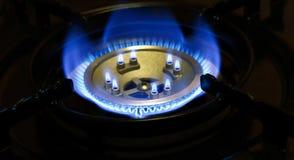 Горящий природный газ Стоковое Изображение